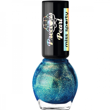 Lac de unghii MISS SPORTY Precious Pearl, 050 Turquoise Pearls, 7ml