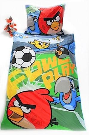 Lenjerie de pat licenta Angry Birds RIO marime 160x200 cm