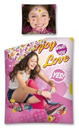 Lenjerie de pat licenta Soy Luna LOVE marime 160x200 cm