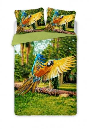 Lenjerie de pat licenta Papagali Parrots percale bedset 4D marime 160x200cm