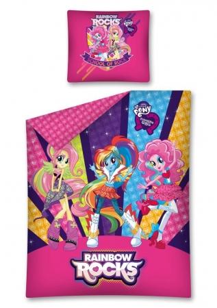 Lenjerie de pat licenta My Little Pony - Equestria Girls marime 160x200 cm