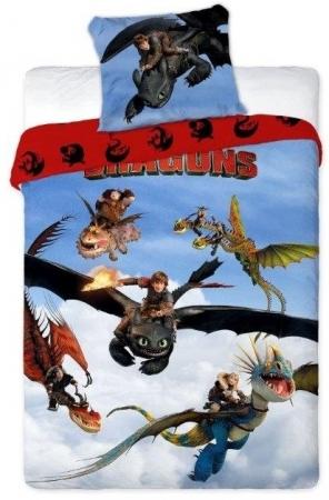 Lenjerie de pat licenta Dragon marime 160x200 cm