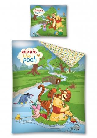 Lenjerie de pat licenta Winnie The Pooh marime 160x200 cm