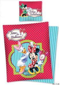 Lenjerie de pat licenta Minnie Mouse  marime 140x200cm 1persoana