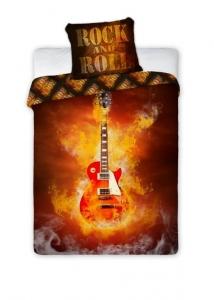 Lenjerie de pat licenta Rock and Roll marime 160x200cm 1persoana