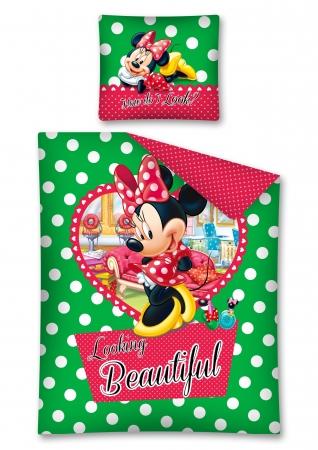 Lenjerie de pat licenta Minnie Mouse Beautifull marime 160x200 cm