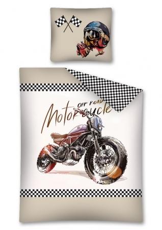 Lenjerie de pat licenta Motorcycle marime 160x200cm
