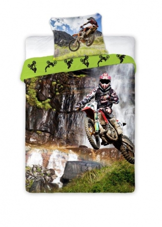 Lenjerie de pat licenta Sport Motocicleta marime 160x200 cm - 5907750552023