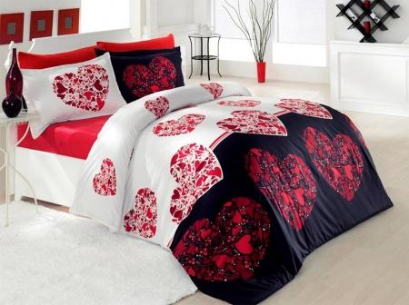 Lenjerie de pat premium Valentini Julien red 220x200 2x70x80 cm - editie LIMITATA