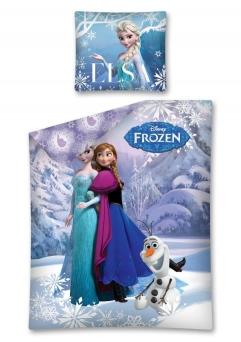 Lenjerie de pat licenta Frozen marime 160x200cm 1persoana