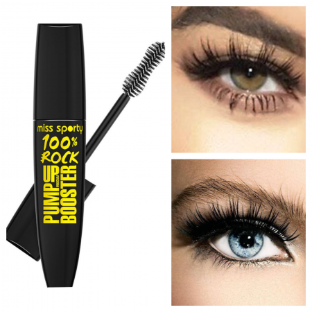 Mascara Miss Sporty Pump Up Booster 100% Rock Black