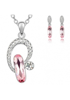 Set LIGHT DROP rose cu cristale swarovski