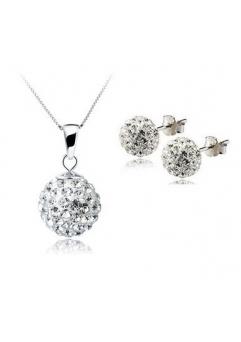 Set bijuteriii SHAMBALA alb cu cristale