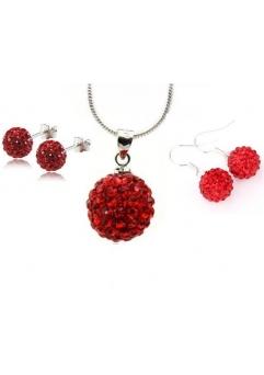 Set bijuteriii SHAMBALA rose cu 2 perechi de cercei cu cristale swarovski