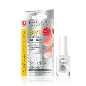 Tratament unghii 8in1 Eveline Professional Silver Shine 12 ml