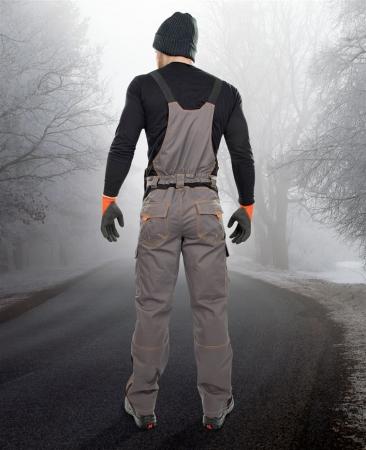 Pantaloni cu pieptar vatuiti de iarna VISION2