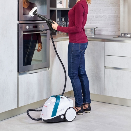 Aparat de Curatat cu Abur Vaporetto Smart 100_B, 1500 W, 2 l, 4 Bar, 110 gr/min, Alb/Albastru5