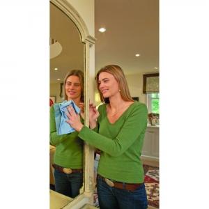Laveta Premium E-Cloth din Microfibra pentru Sticla si Lustruire, Pahare, Geamuri, Vitroceramica, 50  x 40 cm