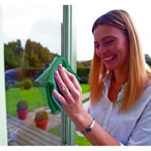 Set Doua Lavete Premium E-Cloth din Microfibra pentru Geamuri, Rame PVC, Pervaze, 32 X 32 cm