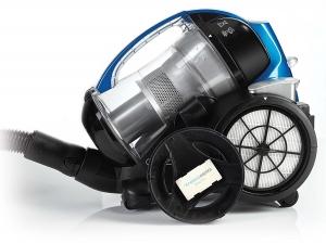 Aspirator Fara Sac Polti Forzaspira MC 350 Turbo & Fresh, 1.8 l, 700 W, Filtru HEPA, Clasa A, Negru/Albastru2