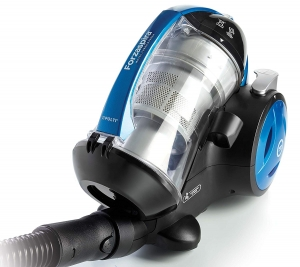 Aspirator Fara Sac Polti Forzaspira MC 350 Turbo & Fresh, 1.8 l, 700 W, Filtru HEPA, Clasa A, Negru/Albastru