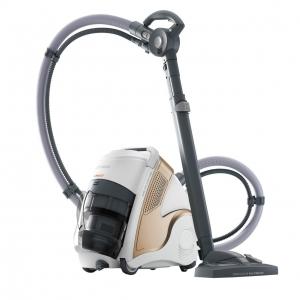 Aspirator Polti Unico MCV 85 Total Clean & Turbo, Filtrare Multiciclonica 5 Stadii, Functie Igienizare Abur si Uscare , 2200 W, Filtru Hepa, Auriu0