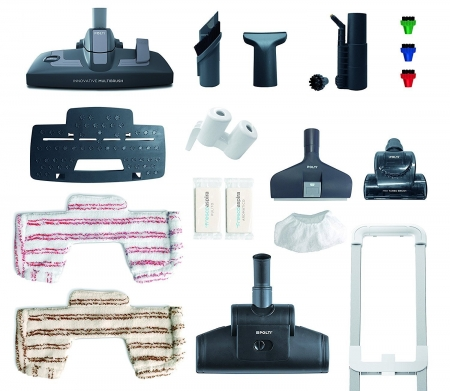 Aspirator Polti Unico MCV 85 Total Clean & Turbo, Filtrare Multiciclonica 5 Stadii, Functie Igienizare Abur si Uscare , 2200 W, Filtru Hepa, Auriu4