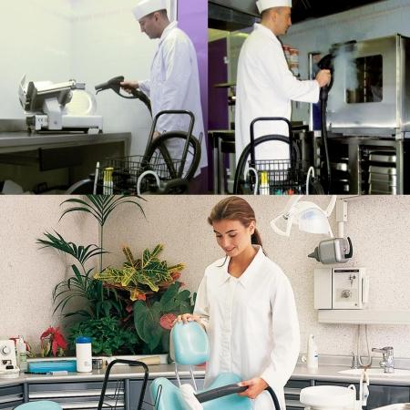 Aspirator Profesional cu Abur Polti Mondial Vap 6000,  Functie Injectie/Extractie, Spalare cu Detergent