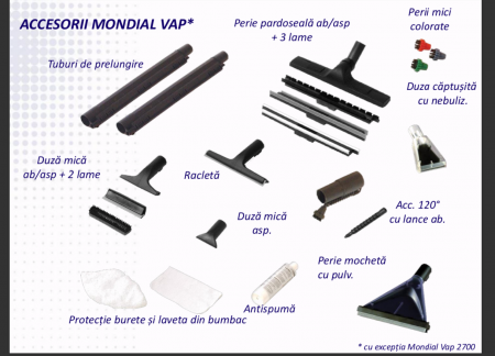 Aspirator Profesional cu Abur Polti Mondial Vap Special Cleaner,  Functie Injectie/Extractie, Spalare cu Detergent
