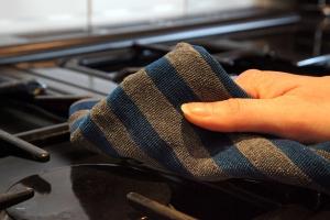 Set Doua Lavete Premium E-Cloth din Microfibra pentru Cuptor, Plita, Aragaz, 32 x 32 cm