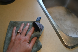 Laveta Premium E-Cloth din Microfibra pentru Curatarea Bucatariei, Compartiment Abraziv, 32 x 32 cm7
