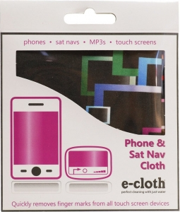 Laveta E-Cloth pentru Ecran Telefon, Tableta, Navigatie, MP3, Touch Screen, 19 x 19 cm