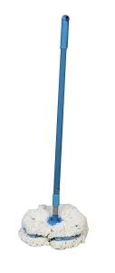 Mop Clasic Premium E - Cloth, pentru Curatat Parchet, Gresie, Lemn, Piatra, Maner Telescopic Max. 1.5 m