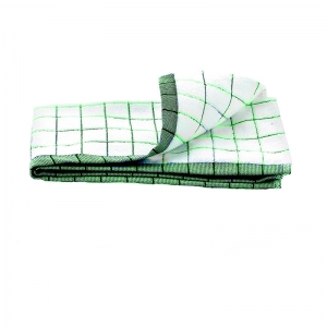 Prosop Premium E-Cloth de Bucatarie pentru Pahare, Farfurii de Portelan, Tacamuri, 60 x 40 cm, Alb/Verde2