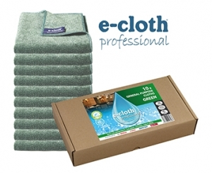 Set 10 x Laveta Premium E-Cloth Universala din Microfibra, Bucatarie, Baie, Geamuri, Praf, 32 x 32 cm, Verde