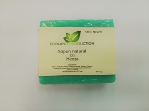 Sapun natural cu ulei esential de menta 100g Ecoland Production