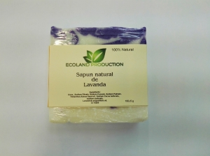 Sapun natural cu ulei esential de lavanda,100g Ecoland Production