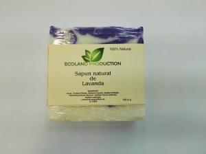Sapun natural cu ulei esential de lavanda,100g Ecoland Production