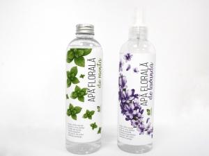 Apa florala de menta + lavanda, 250 ml + 250 ml, 100% natural