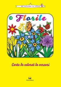 Florile - carte de colorat