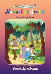 Hansel si Gretel carte de colorat
