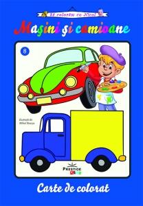 Masini si camioane, carte de colorat