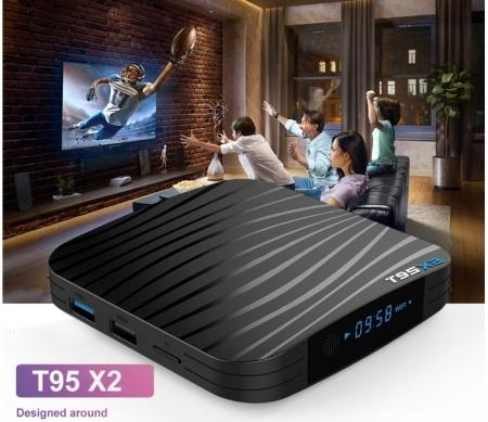 Raldio T95X2 Mediaplayer Smart TV Box  2 GB si 16 GB RAM miniPC Android 8.1  8000 posturi TV LIVE din intreaga lume0