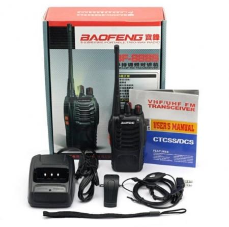 Set 8 buc Baofeng BF-888S cu 16 acumulatori 1500 mAh + Bonus Cablu+CD programare