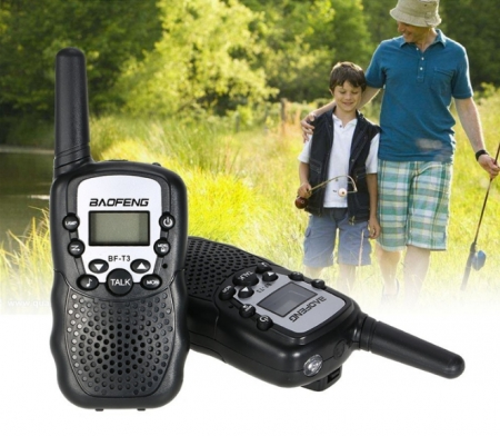 Set 2 statii radio Baofeng BF-T3, walkie talkie,  8 canale EU 446 PMR