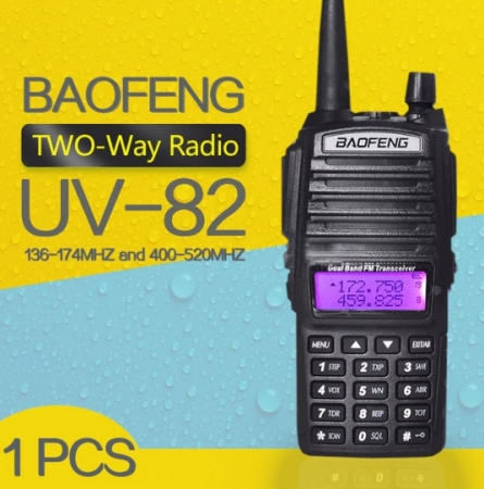 Set 3 statii UV- 82 walkie talkie transiever, 5 W,  dual band VHF, UHF, 2800 mAH , radio FM4