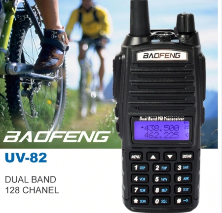 Set 3 statii UV- 82 walkie talkie transiever, 5 W,  dual band VHF, UHF, 2800 mAH , radio FM1