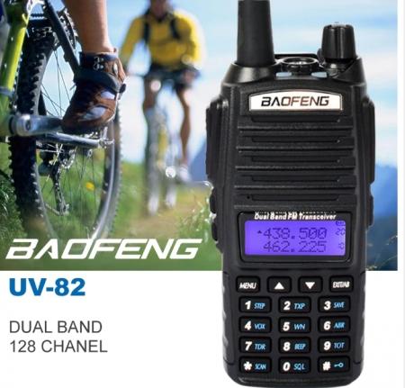 Set 10 statii UV- 82 walkie talkie transiever, 5 W, dual band VHF, UHF, 2800 mAH , radio FM, BONUS cablu programare + CD9