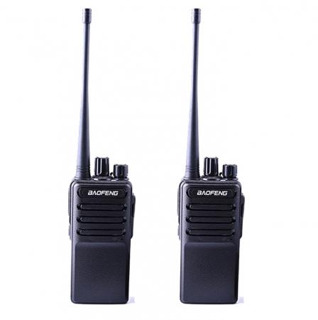 Set 2 buc Statii Radio Walkie Talkie Baofeng BF- V2 UHF 400-470MHz 16CH PROGRAMABILE, incarcare USB 5V + Cablu si CD programare0