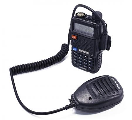 Statie  Radio Walkie Talkie Baofeng UV-5R cu MICROFON exterior, Transceiver Inclus Casti cu microfon